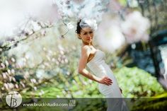 Chinese pre-wedding portrait photography in Vancouver, BC.  I love the cherry blossoms Vancouver has in Spring!!