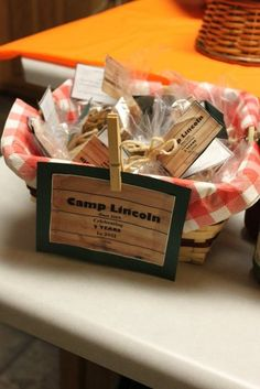 Camping favors #camp #favors   Camp Greene