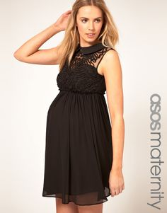ASOS MATERNITY Mini Dress With Rose Applique