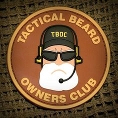 Tactical Beard Owners Club Patches