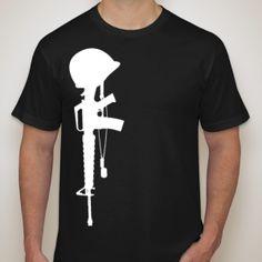 Fallen soldier sillhouette graphic tee