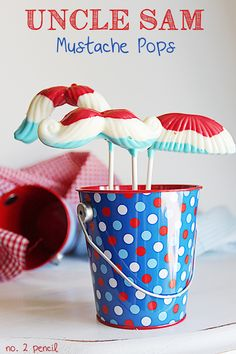 Uncle Sam Mustache Pops for 4th of July - No. 2 Pencil