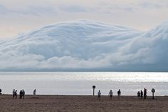 Picture of the Day: The Tsunami Cloud  Holland State Park in Michigan, USA