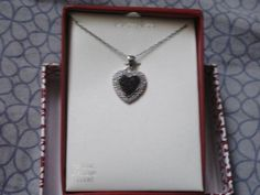 Brand-new Dimond accent heart Necklace real 925 sterling silver
