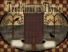 Primitive Decor | in Thyme Primitives, Primitive Colonial Decor, Decorating, Primitive ...