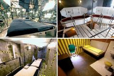 Propeller Island Hotel in Germany. 16 themed rooms, from caged room, coffins, prison cell that you have to break out of, mirrored rooms and upside down and more.. which room to chose?