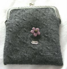 New DIY! Recycled Sweater Coin Purse