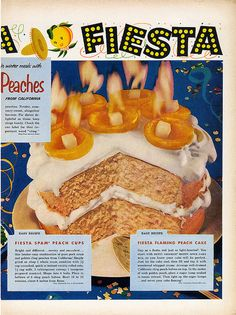 Fiesta Peach Cake