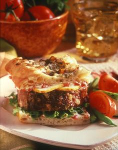Meatloaf Focaccia Sandwich - Recipe | http://www.quakeroats.com/