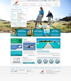 Srilankan Airlines España - Website by Luis Castrillo, via Behance
