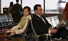 Peggy Olson (Elisabeth Moss) and Don Draper (Jon Hamm) in Mad Men. Photograph: AMC