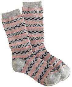 J.Crew Fair Isle trouser socks - ShopStyle