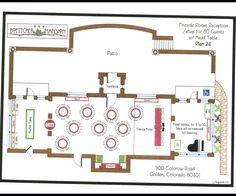 Set up for Fireside Room Reception- 80 Guests. Location: Boettcher Mansion
