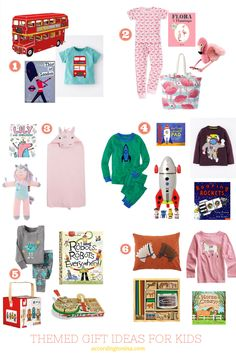 Themes for Gifts for Kids: use this to inspire you to create your own for the next special girl or boy on your shopping list. #giftideas #giftideasforkids #kids #birthdayparty #birthdaygifts #giftsforkids