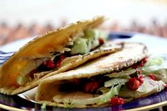 Turkey tacos recipe with cranberry salsa.  Another great way to use up Thanksgiving turkey leftovers.