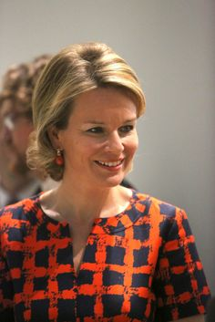 "Queen Mathilde  visited  the exhibition ""the Europe of Rubens"" at the Louvre-Lens Museum  in Lens, France"