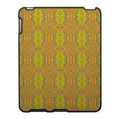 Yellow 60's Retro Fractal Pattern Ipad Skin $56.20