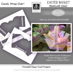 Printable Paper Basket - Easter Basket Template - Large Size Template.  Small Template sold separately. Gina Jane Designs - DAISIE Company