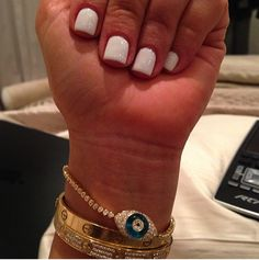 Kim Kardashian Nails #white