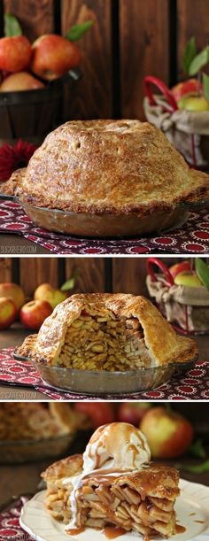 Mile High Apple Pie - the most epic apple pie ever!   From SugarHero.com
