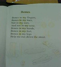 """Give each child a poetry journal, to explore poems used during Shared Reading. *Activity: After illustrating this poem, this student highlighted the focus sight word """"in"""". Then she  discovered """"my"""" and digraph """"th"""" in the text, so she highlighted them, too."""