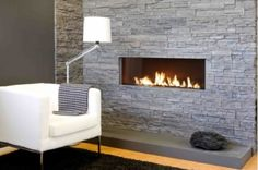 Openhaard on Pinterest Loveseats, Fireplaces and White Walls