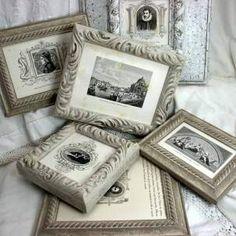 diy frame, frame readi, vintage, white, paint gold, craft project, picture frames, pictur frame, wood frames