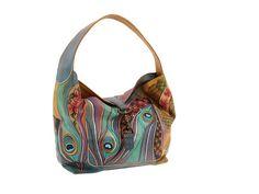 shoulder bags, purs, style, luggag, danc peacock, peacock mad, anuschka handbags, handbag 437, 437 danc