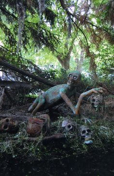 Halloween haunted forest on pinterest for Haunted woods ideas