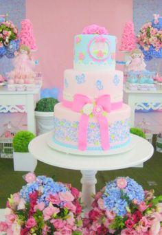 festa em azul e rosa