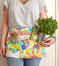 Gardening apron by Laura Potts for Love Patchwork & Quilting magazine issue 11