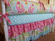 So love crib bedding, bed set, daughters room, girl nurseries, girl bedrooms, toddler bed, bedding sets, bright colors, girl rooms