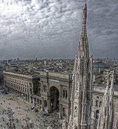 The sky above Milan