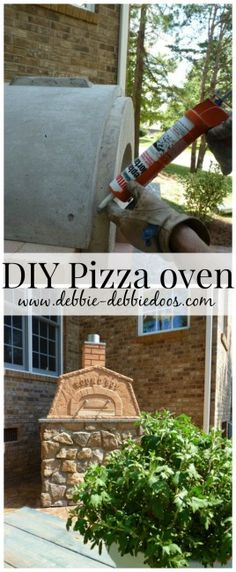DIY-ed an outdoor pizza oven, how cool! Check out how she saved thousands of dollars by doing it herself! #DIY #outdoorliving. This is a perfect #Fall project. You can do it!