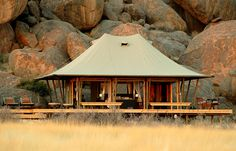 Tent exterior. Wolwedans Boulders Camp, Namibia. © Wolwedans