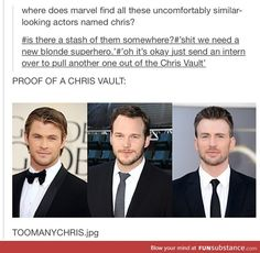 The Marvel Chris Vault. Has to be a thing.