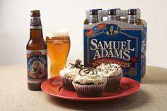 Sam Adams Beer Cupcake. Perfect!