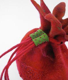 Felt pomegranate bag