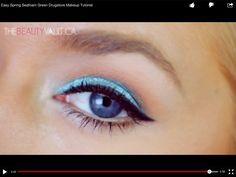 A light blue eyeshadow