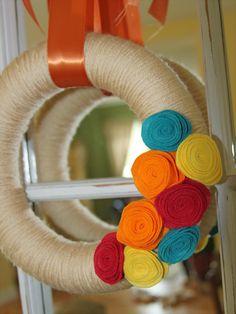 Yarn & Felt wreath