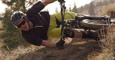 Extreme Mountain Biker Takes a Turn at 90 Degrees [VIDEO]