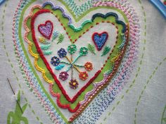 Beautiful heart embroidery - Imogen Eve
