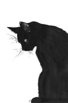 art:  black cat