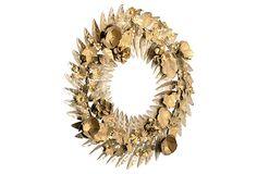 Metal Filigreed Floral Wreath on OneKingsLane.com