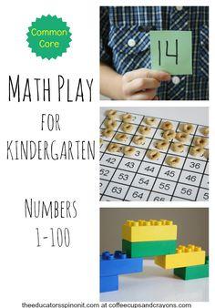 Math Play for Kindergarten Numbers 1-100