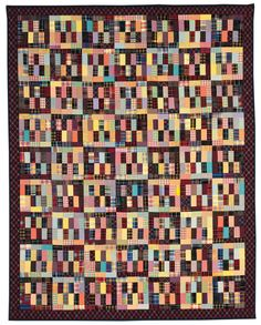 Strip quilt with plaids, in: 'Successful Scrap Quilts from Simple Rectangles' by Judy Turner & Margaret Rolfe squar, pattern, scrap quilt, checkerboard quilt