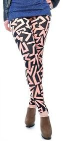Geometric Pattern Leggings by Anna-Kaci