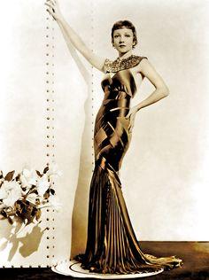 Claudette Colbert wearing Travis Banton