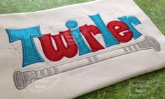 TWIRLER with Baton applique embroidery design on Etsy, $6.00