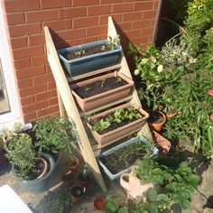 This Simple Planter Ladder is something pretty muchc anyone can build in an afternoon. Imagine it filled with beautiful blue flowers cascading down like a waterfall! via aledt on Instructables